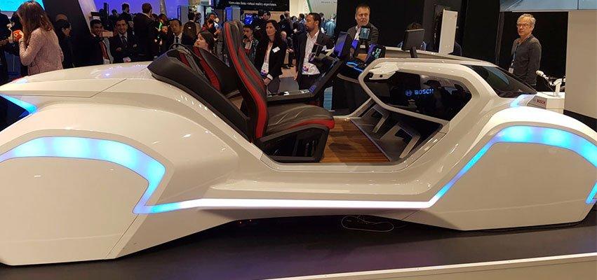 coche autonomo e hiperconectado de vodafone en Mobile World Congress