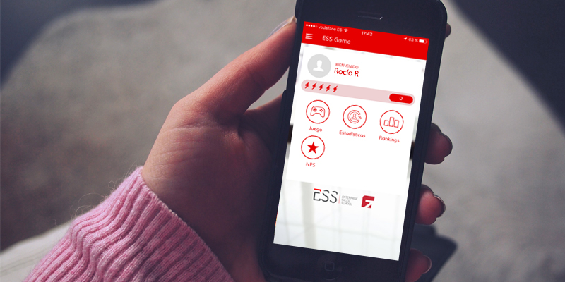 Aplicación móvil ESS de Vodafone diseñada por be beyond