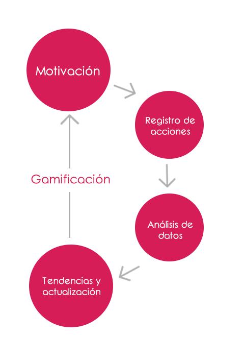 Proceso de actualización de la formación de los usuarios de una plataforma de gamificación
