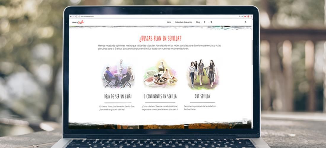 Diseño de la nueva página web de la plataforma Bares en Sevilla