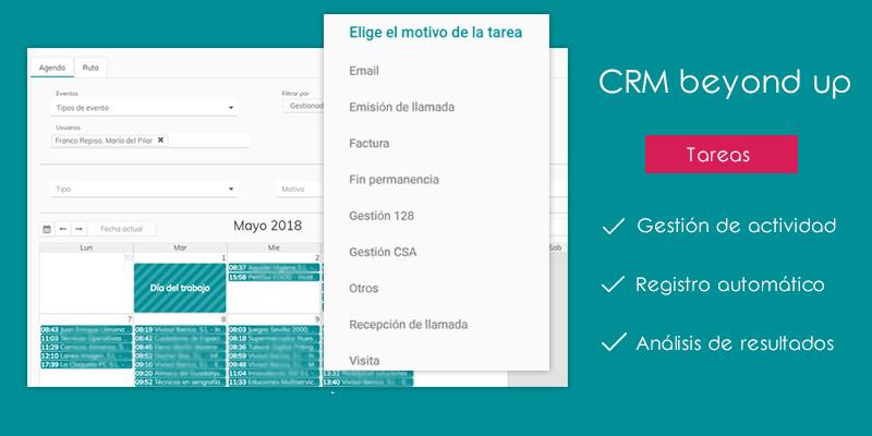 Gestión del tiempo y tareas con CRM beyond up
